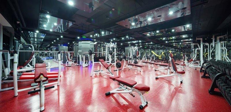Phòng Gym tại Dragon Riverside City